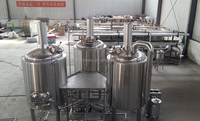 Argon welding stainless steel tank inner polishing 500l beer brewing equipment
