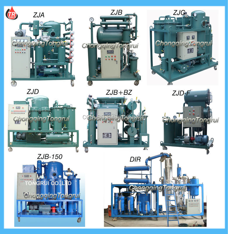 Waste Used Engine Car Motor Oil Purifier Oil Regeneration