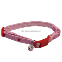 Tender Heart Pink Cat Collar