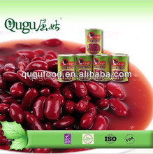 Dried red kidney beans canned