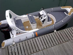 Liya 6.2m pvc rib inflatable boat with motor