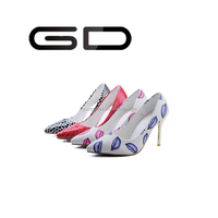 GD Women newest red bridal party wedding sexy high heel dress women shoes
