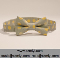 baby toddler kid boys self tie bow ties gray and yellow polka dot bow tie bows