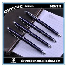 Square barrel metal ball pen and rollerball pen
