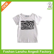 bamboo soft cotton fabric for kids plain fitted t shirts