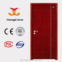 ceiso9001การออกแบบใหม่ราคาถูกธรรมดาภายในประตูไม้ที่เป็นของแข็ง