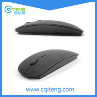 WIRELESS MOUSE ULTRA THIN OPTICAL MOUSE FOR MICROSOFT WINDOW USB CORELESS MOUSE(Black rubber finish)
