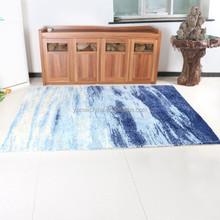 Modern polyester carpet for bedroom,light blue machine woven carpet underlayment
