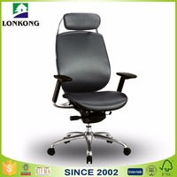 Aluminum adjustable armrest with Head Rest Office Chair