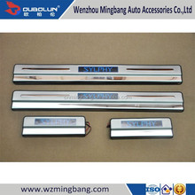 Stainless steel LED Side Step Running board scuff Plate LED side door sills moulding trim for 2012-2014 Sylphy