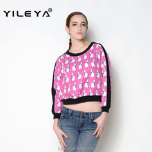 latest autumn casual digital printed OEM women latest fashion blouse design