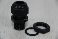 Waterproof nylon cable gland 1/2'' npt black