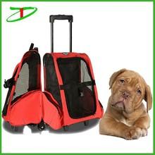 2015 wholesale wheeled pet dog sleeping bag with trolley