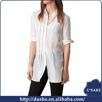 U'SAKE silk crepe 2014 office uniform designs for women chiffon style blouse
