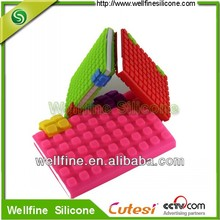 2012 Mini Promotional Building Block Design Silicone Writing Notebook