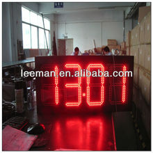 clock with led light led wall clock display rechargeable battery powered led sign