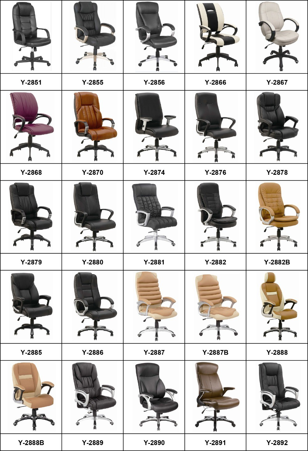 Y-2742 Classic Executive Home Study Computer Office Chair with Prices for Chairs