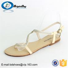 fashion style summer rhinestone sandals 2014 summer new design girl sandals