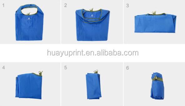 Promotional Polyester foldable shopping bag