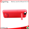 China 2200mah Backup phone charging For iphone 5 Battery case charger