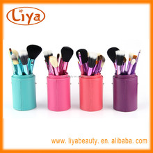 Professional OEM 12pcs make up brush set with case for beauty tools