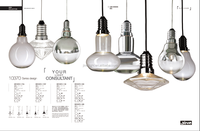 modern led hand blown glass pendant lights for kitchen and dining room