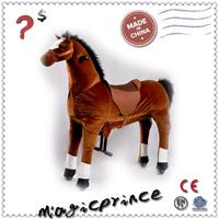 Magic Prince Plush Walking Animal, Animal kiddie ride, ride on Animal brown horse , NHB-15