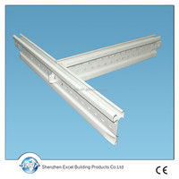 Steel T grid for ceiling gypsum board, ceiling grid T bar, galvanized steel and prepained
