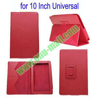 Wholesale Universal 10 Inch Tablet PC Leather Case With Holder (Red)