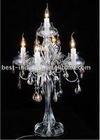 2013 Modern Crystal Chandelier Table Lamp For Wedding Or Event MT66105-L4+1 D460mm H815mm