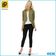 New Fashion Style High Quality Autumn Season Women Blazer Adjustable Sleeves Length