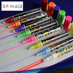 Fine color chalk markers, water erasable invisible marker