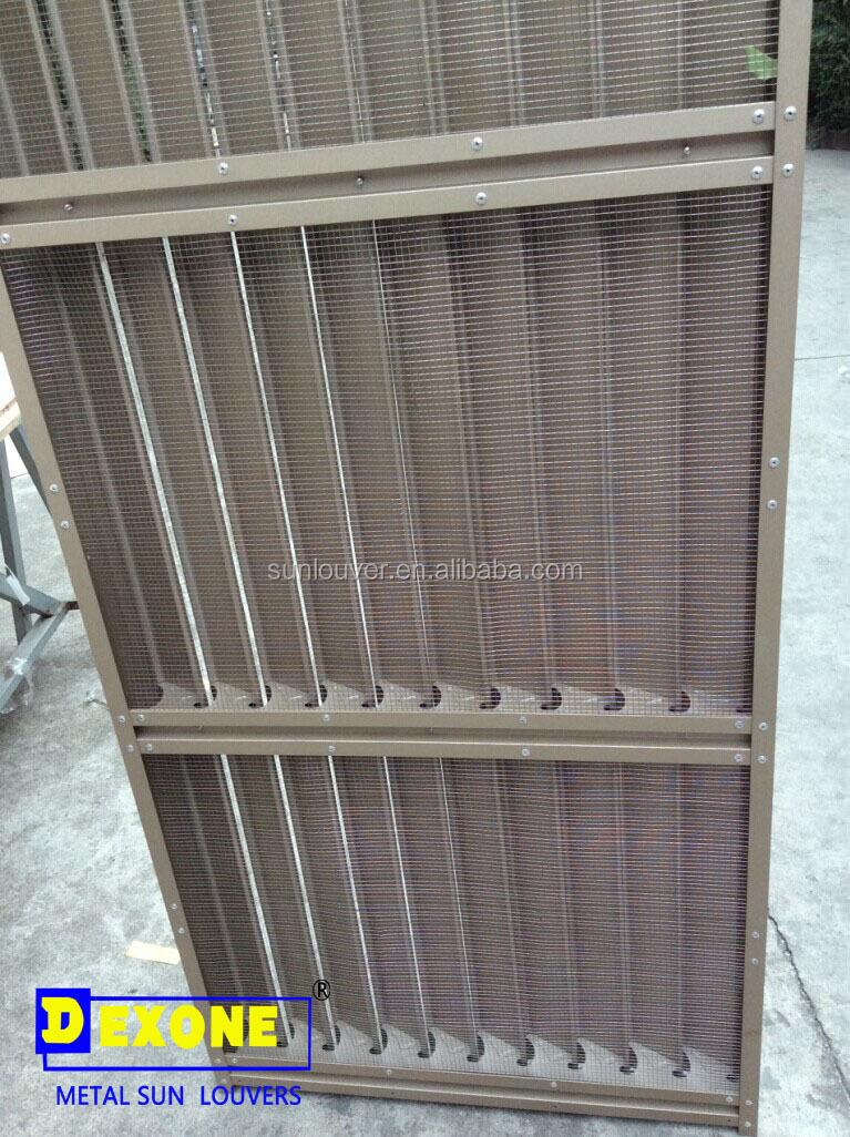 Aeroscreen 84r Vertical Aluminum Louver With Bird Screen