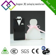 The delicate Character black and white and pink dress weeding candy gift box