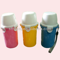 350ml PP Plastic bottle with Cup /Drinking Bottle / With Cup