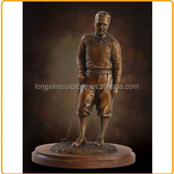 Outdoor Golf Statues Metal Bronze Golf Statue