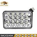 7 pulgadas 15 unids * 3 W 45 W de luz led carretera trabajo, alta / baja de haz opción de luz del trabajo del led