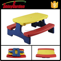 Walmart Colorful Foldable Plastic Table and Chair for Kids Study