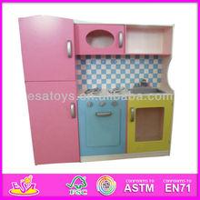 2015 New pretend kitchen,popular big kitchen set toy and best seller wooden DIY kitchen W10C004