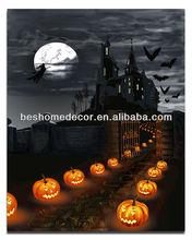 lighted halloween decoration Jack-O-Lanterns canvas art with led lights