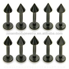 Titanium black arrow labret lip ring body piercing jewelry