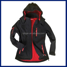 Mujeres de la chaqueta de deportes 4-way elástico softshell