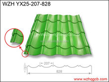 china supplier YX 25-207-828 antique tile steel sheet /roofing sheet hot sale for the prefabricated house by weizhengheng