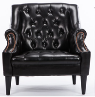France Style Elegant Leather Sofa Set Handle Carving Wood Legs Living Room Furniture Single Or Two Seat Leather Sofa