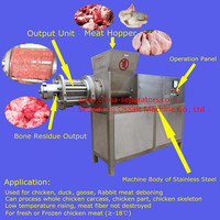 MDM High Capacity desinewer for Fish Fillet Processing Factory/Fish Meat Extruder