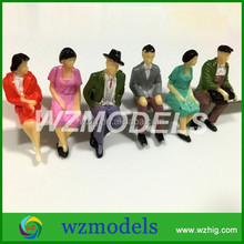 1:25~1:200Model painted Figures HO scale model people sitting figures for scale models for train layout