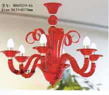 Red Color Crystal Chandelier Made In China