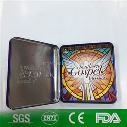 metal tin box for cd and vcd