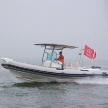 Rigid Inflatable RIB Boat Made of PVC or Hypalon with 200 to 300hp Power 780 to 850 large inflatable boats