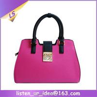 2015 New Arrival hot pink ladies college handbags